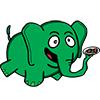 зеленый слоник