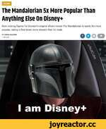 TLfDR The Mandalorian 5x More Popular Than Anything Else On Disney+ New viewing figures for Disney+'s original shows reveal The Mandalorian is easily the most popular, raking in five times more viewers than its rivals.